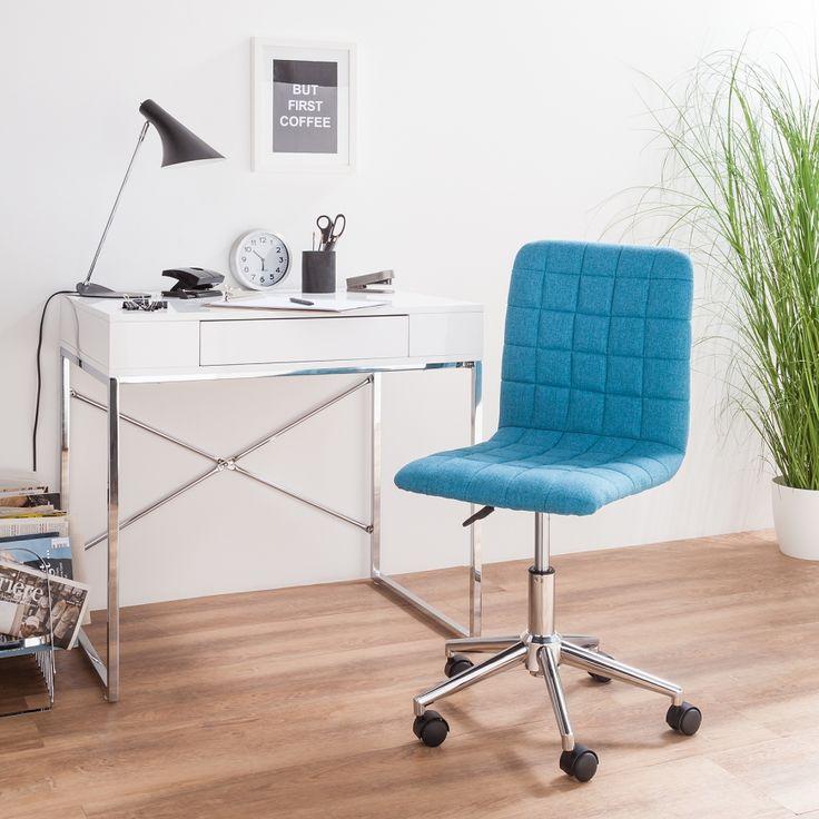 Bürodrehstuhl Arava   Webstoff / Metall   Blau