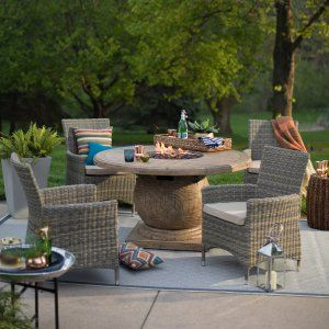 Fire Pit Table Set on Hayneedle - Patio Fire Pit Seating for Sale