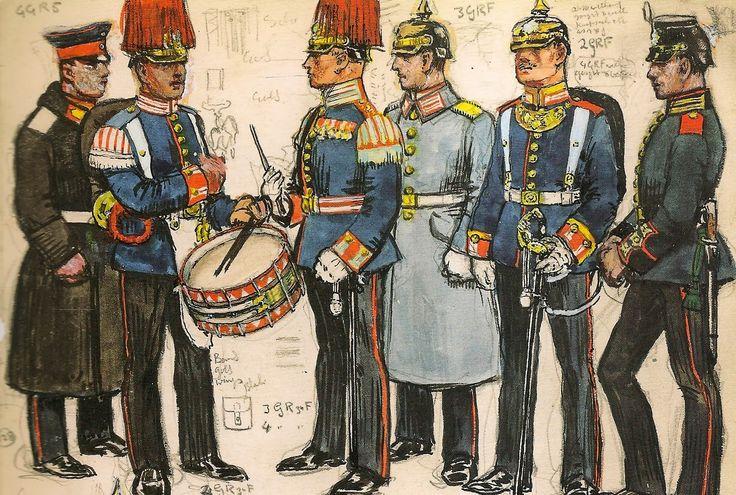 German 5th Foot Guard Regiment Nco Undress In Greatcoat