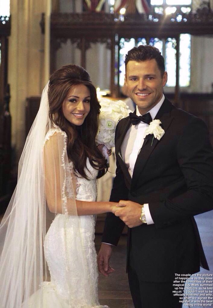 Michelle Keegan and Mark Wright on their wedding day