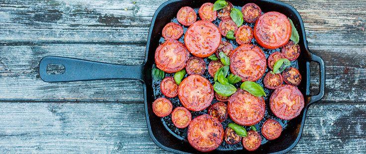Bilde av stekte tomater
