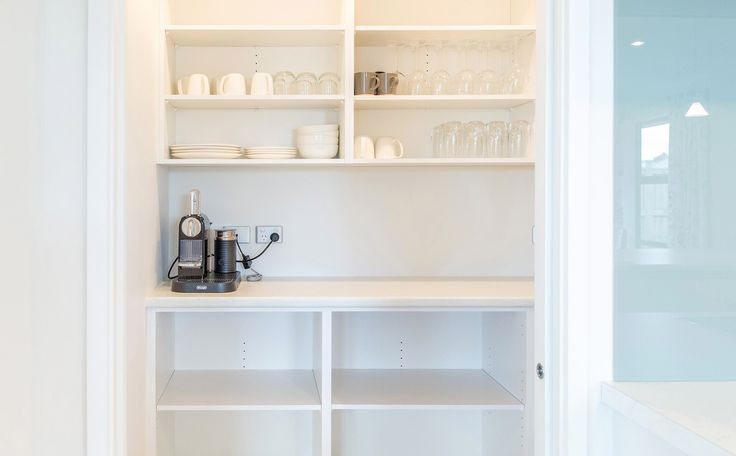 Fabulous kitchen storage in this kitchen scullery.