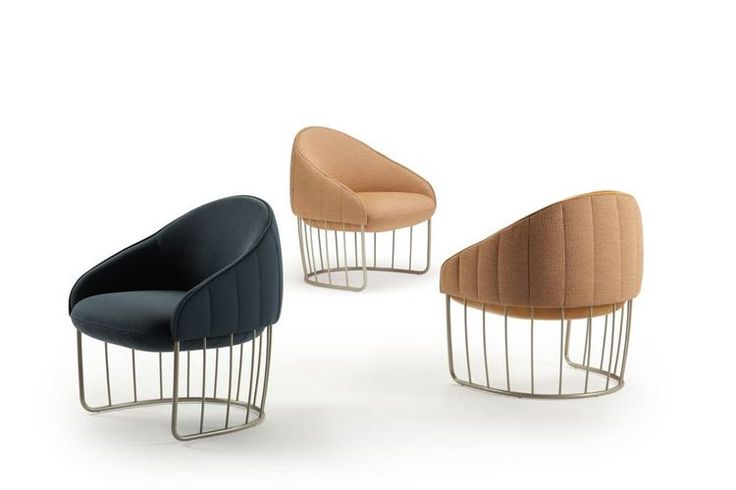 Finally somebody dares a take on Plattner - but still very original and contemporary! 'Tonella' armchairs by Swedish outfit, Note Design Studio for Spanish brand Sancal.