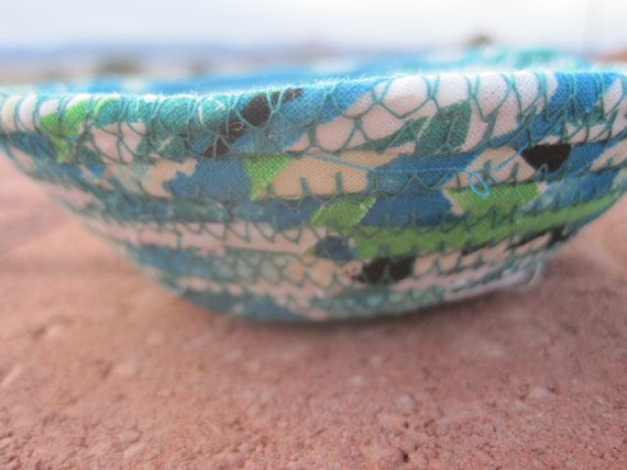 Tropical fabric covered clothesline corded by bunchberrystudio