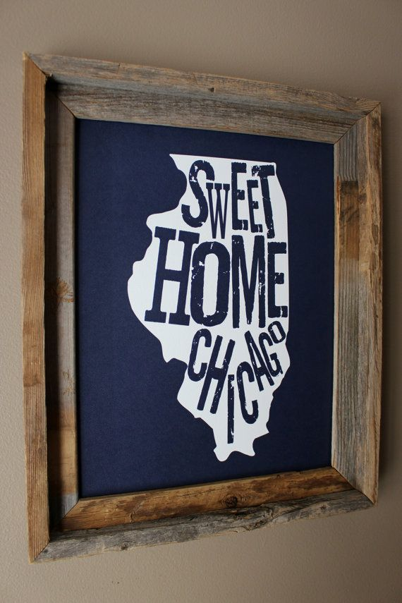 Chicago Map Grid%0A Sweet Home Chicago Map Print  Dark Blue   Unframed