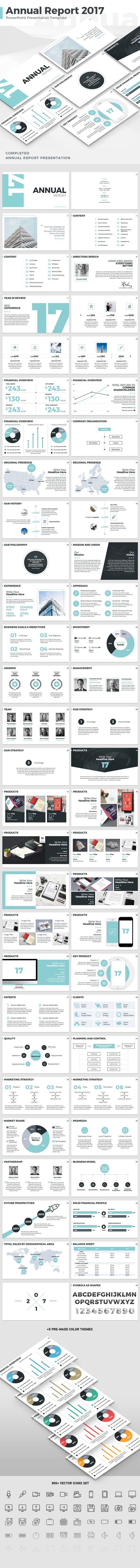 Annual Report 2017  PowerPoint Template — Powerpoint PPTX #project #deck • Download ➝ https://graphicriver.net/item/annual-report-2017-powerpoint-template/19113526?ref=pxcr