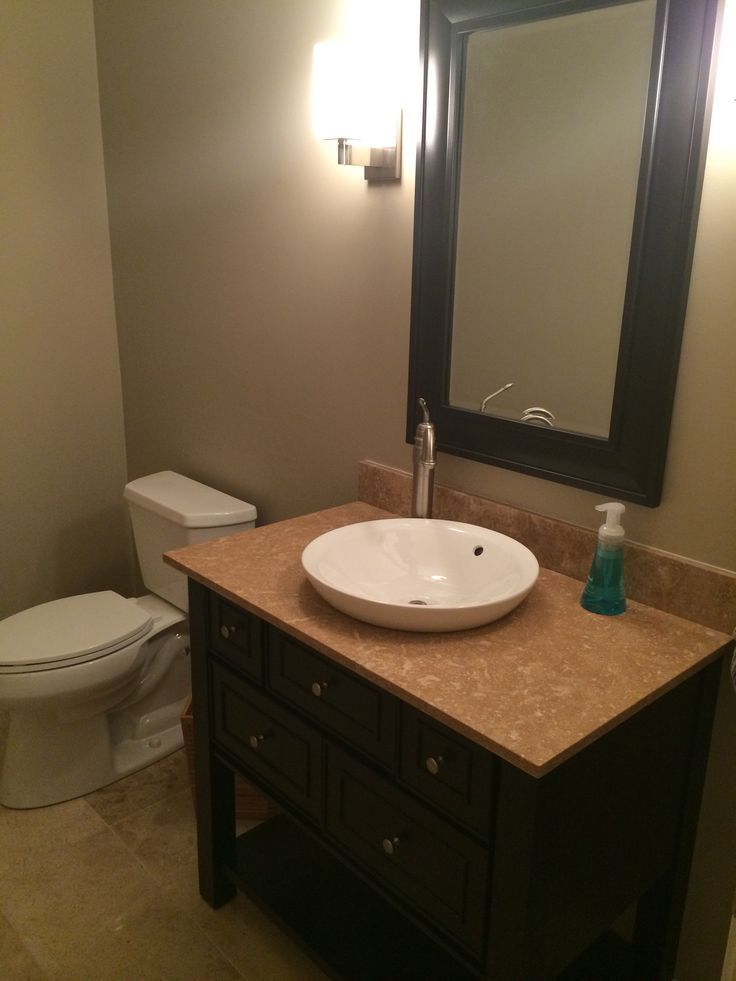 Second bathroom remodel done! Just need to add some styled shelves above toilet….   – shelves in bedroom