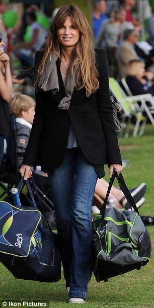 What are sisters for: Jemima Goldsmith Khan was seen carrying two cricket bags as she made her way to secure a spot near the cricket field to cheer on her brothers