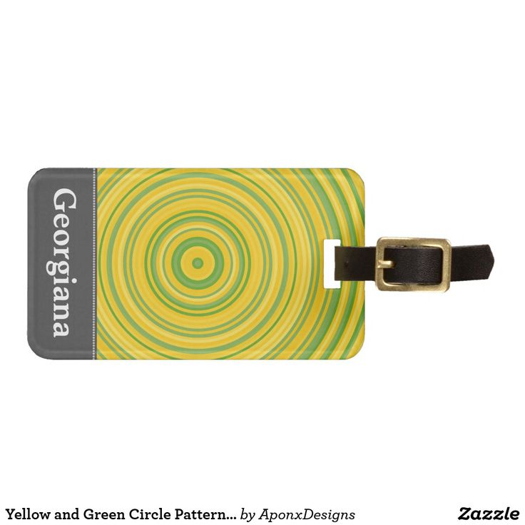 Yellow and Green Circle Pattern + Custom Name