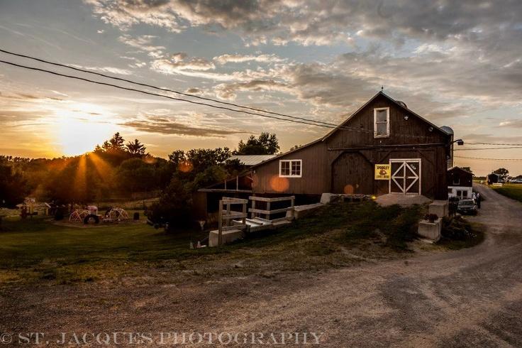Dyments Farm in Dundas at Sunset. Hamilton, Ontario farm.