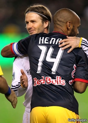 David Beckham and Thierry Henry