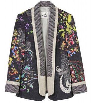 Роскошный пиджак (блейзер) с принтом от ETRO PAISLEY