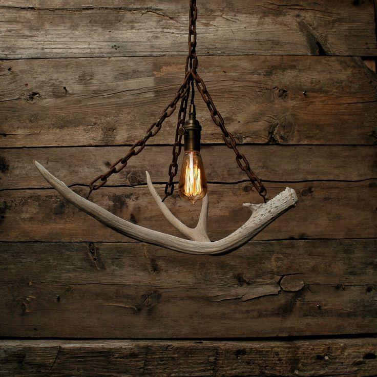 Antler Chandelier - Antler Pendant Light - Chain Light - Hanging light - Ceiling light - Antler lamp Statement Light by MoonStoneFox on Etsy https://www.etsy.com/listing/242688998/antler-chandelier-antler-pendant-light
