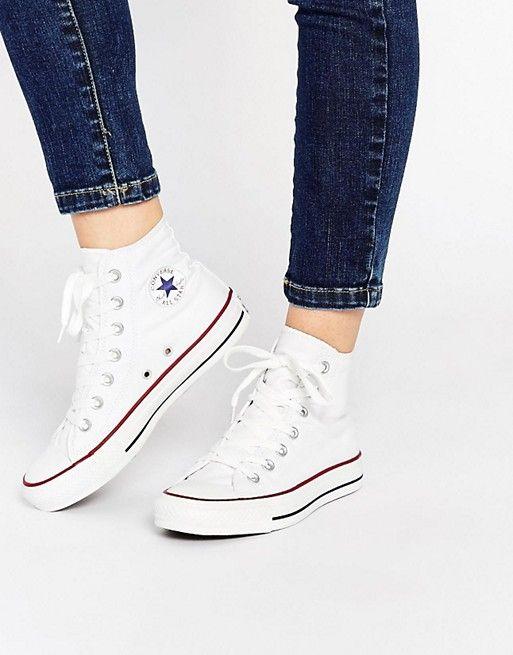 Converse – All Star – Hohe Turnschuhe in Weiß