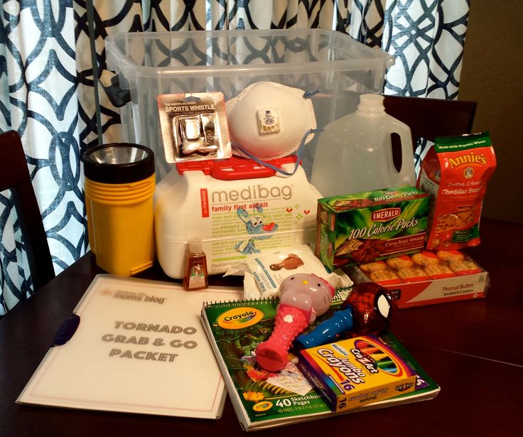 Preparing Your Family For Severe Weather - what to pack and take with you in your tornado shelter