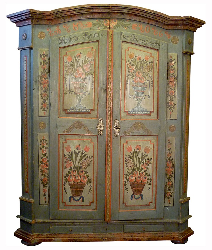 Luxury Painted Cabinet Antique Cupboard Decorative Paintings Paint Techniques Case Cabinets Cupboards Paint Furniture Lovely Things
