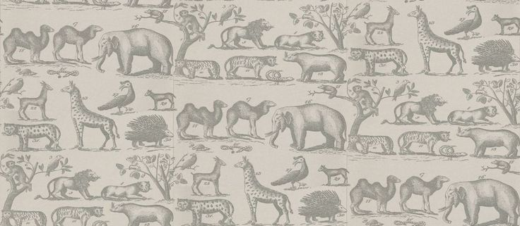 Ark+(ARK3-CLOUD)+-+Andrew+Martin+Wallpapers+-+A+vintage+look+wallpaper+with+animals+from+the+jungle+such+as+lions,+snakes+and+elephants.+Shown+here+in+cloud+grey+with+darker+grey+detailing.+Other+colourways+are+available.+Please+request+a+sample+for+a+true+colour+match.+Paste+the+wall+product.