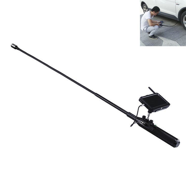 Under Vehicle Camera - 720p, Stainless Steel, Flexible Pipe, 120-Degree Angle, 12 LED Lights, IP68 Waterproof, 5-Inch Display - This Under Vehicle Camera comes with a flexible arm. It features an HD camera and 12LED lights that let you check the most remote places under a car.