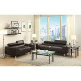 Found it at Wayfair - Bobkona Ellis Bonded Leather Sofa and Loveseat