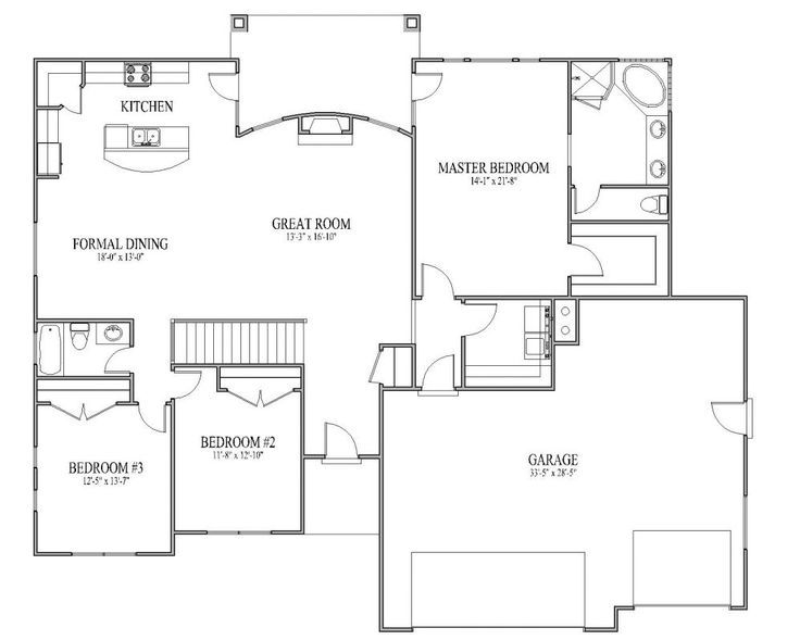 Rambler House Plans rambler house plans with basements french country rambler home hwbdo74748 new american Elegant Simple Floor Plans For Homes On Floor With Simple House Open Floor Plan Rambler House Plan Monarch Plans