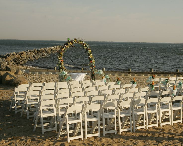 Lands End Intimate Beach Ceremony Great South Bay Long Island Wedding