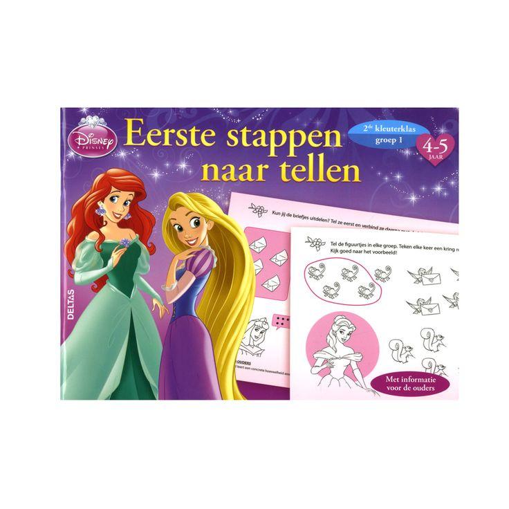 Voorwerpen tellen, de juiste hoeveelheden met elkaar verbinden, begrippen zoals 'evenveel', 'meeste' en 'minste' leren… Dit oefenboek staat boordevol leuke opdrachten waarmee je goed leert tellen van 1 tot en met 5. En wat is er leuker dan deze opdrachten te doen samen met Sneeuwwitje, Assepoester, Belle en al je andere favoriete Disney prinsessen! Dus pak snel je stiften en kleurpotloden erbij en aan de slag! - Disney Prinses Eerste Stappen naar Tellen
