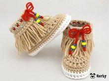 "Häkelanleitung: Babyschuhe ""Indianer Boots"", 2 - 6 Monate"