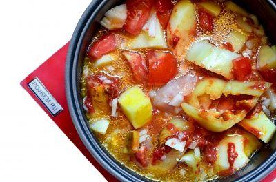 Томатный суп в мультиварке - рецепт с фото