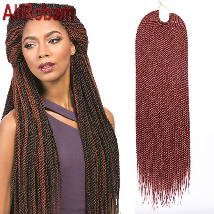Promoção caixa de crochê cabelo torção trança extensões de 22 polegadas 30 fios/pack mambo havana torção do crochet cabelo tranças senegalês torção