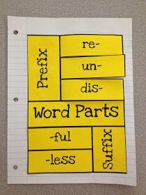 Free prefix/suffix foldable