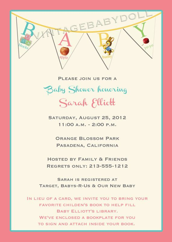 the  best images about tania's baby shower on   abc, Baby shower invitation