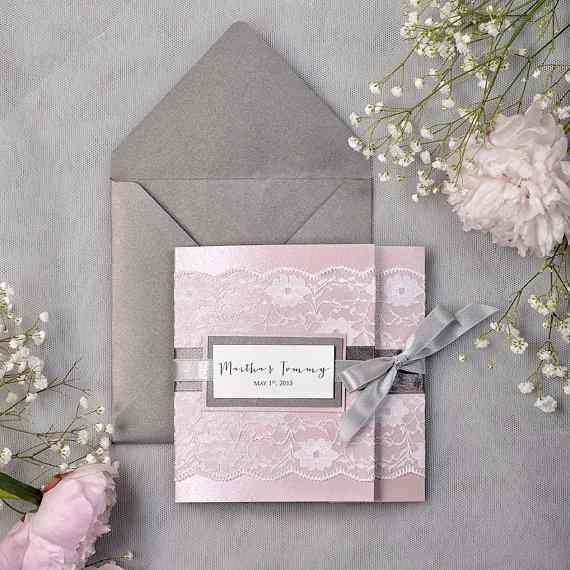 Nos faire-part vintage rose et gris sont arrivés!! 2