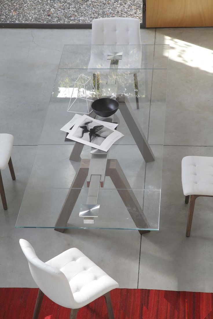 Extending rectangular #table ARON - @bontempidesign