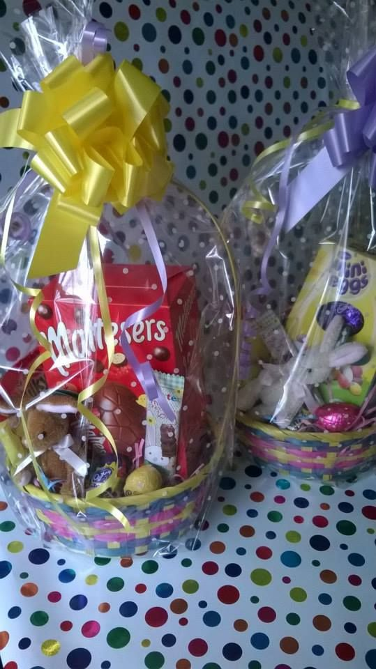 Easter #Bunny baskets  #Easter #gifts for all from as little as £1!!   #Baskets #Bunnies #chocolate #sweets #giftbox #buckets #sweetngroovystuff www.facebook.com/sweetngroovystuff