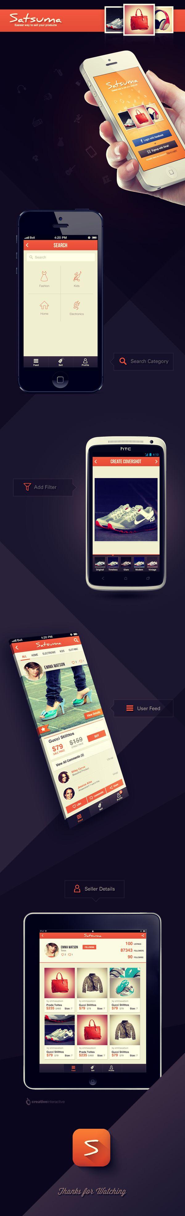 Satsuma Mobile App by Reznik Umar, via Behance
