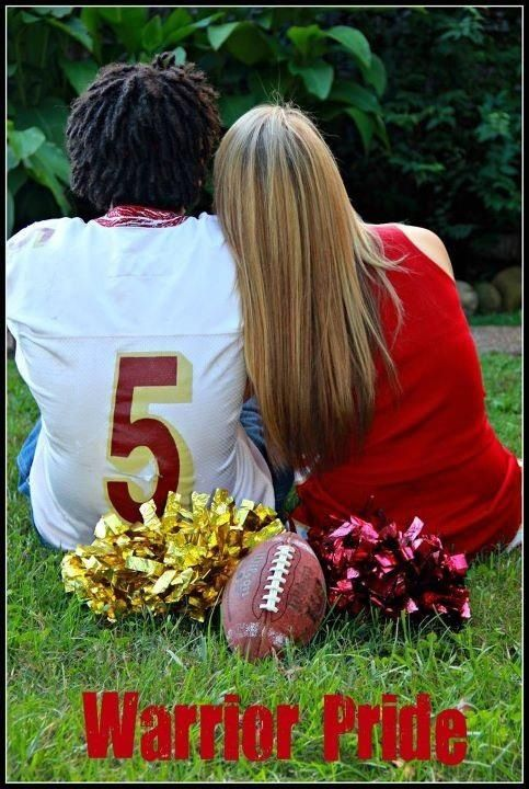 Senior couple sweet photo idea by DC Photography football cheerleader