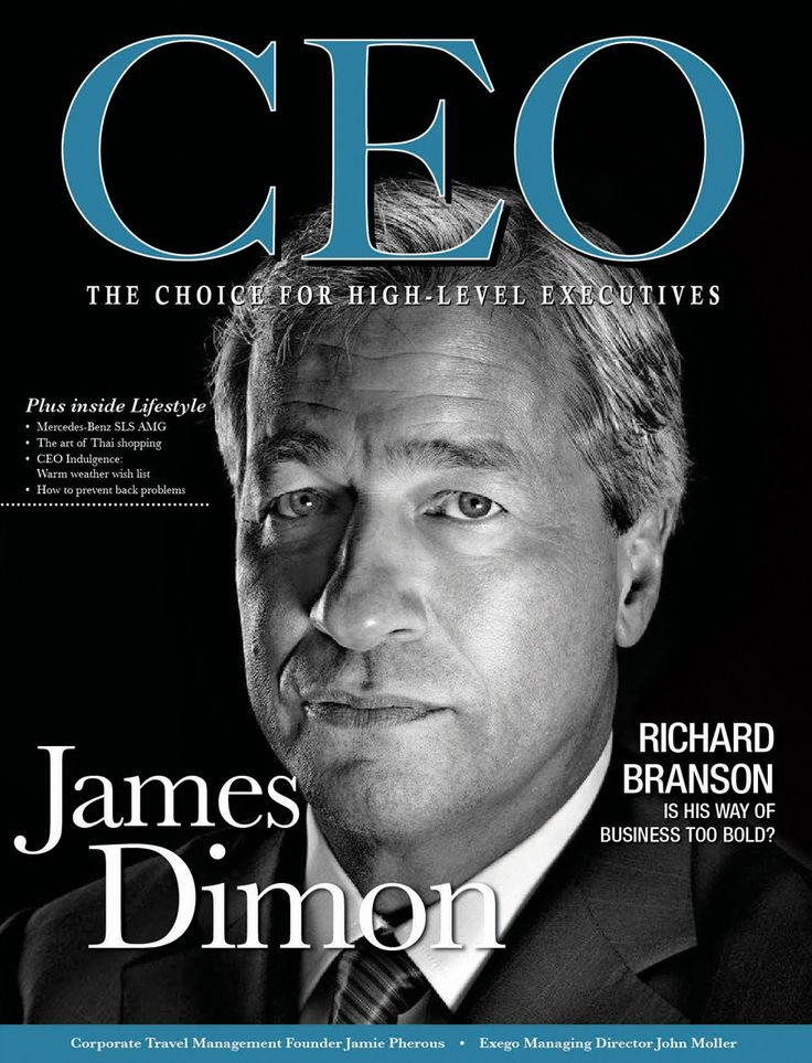 US CEO MAGAZINE COVER JAMES DIMON #magazine #cover #inspiration #pose