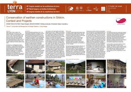 Сохранение глиняных зданий в Сиккиме, контекста и проектов.  Bonnat MELODIE