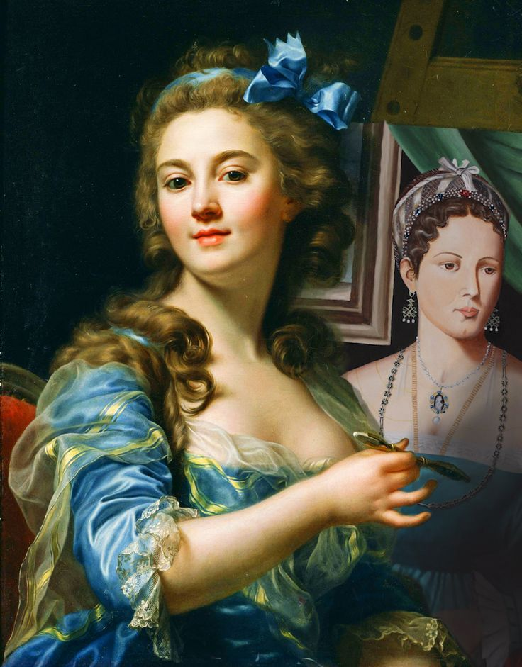 Marie-Gabrielle Capet painting my latest painting (my next project)