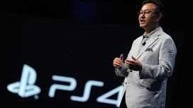 Shuhei Yoshida, president of Sony Worldwide Studios, reveals a prototype of Project Morpheus for PS4 at the Games Developers Conference