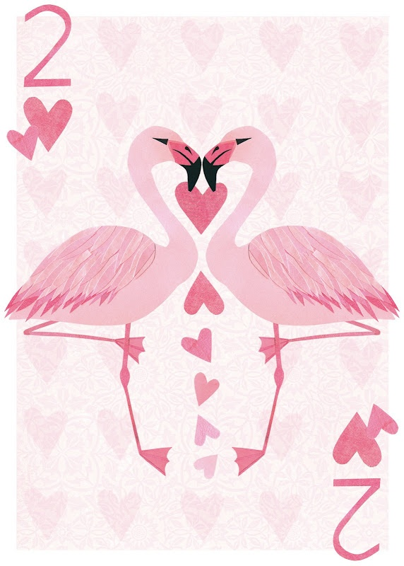 This would make a very cute pink flamingo party invitation.