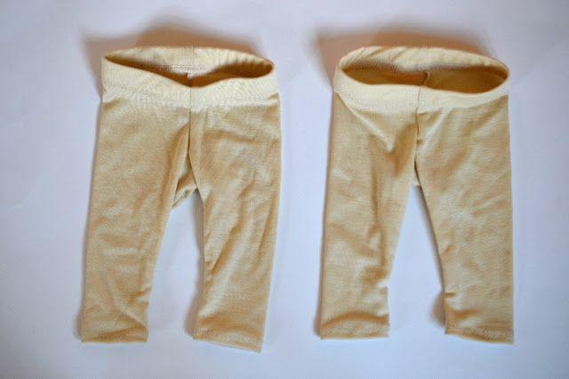 Wolle/Seide Leggings mit Stoff von www.danischpur.de