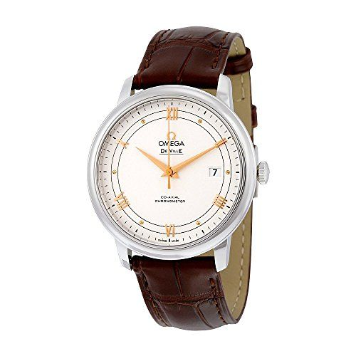 cool Omega De Ville Prestige Silver Dial Brown Leather Mens Watch 424.13.40.20.02.002 just added...