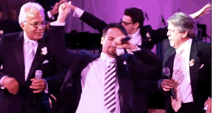 When he surprised his wife on their wedding day with a FULL-ON MUSICAL NUMBER PERFORMED BY THEIR FRIENDS AND FAMILY. | 17 Times Lin-Manuel Miranda Proved He's A Complete Genius