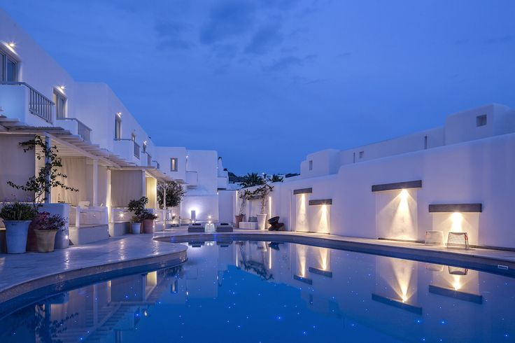 Remembering those summer evenings, relaxing by the serene pool of the Mykonos Ammos Hotel. It was just magical.