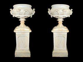 Amazing Palatial huge carrara marble Pan sculpture on