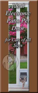 The Ideal Electronic Patio Pet Door Insert Features Single Pane Glass, With  The Ideal Electronic