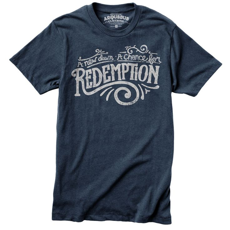 Redemption Typography TShirt by TheDoveCoteBrocante on Etsy