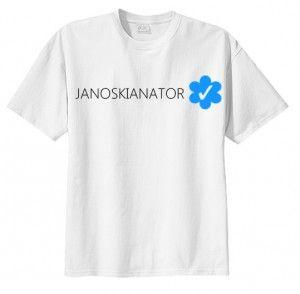 T-shirt koszulka JANOSKIANATOR VERIFIED bluzka fandoms fan napis nadruk print