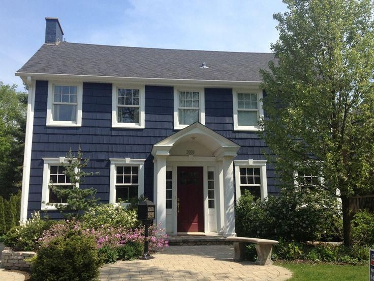 Maybe You Haven T Looked At This Previously Exterior House Remodel Colonial House Exteriors House Paint Exterior House Exterior Blue